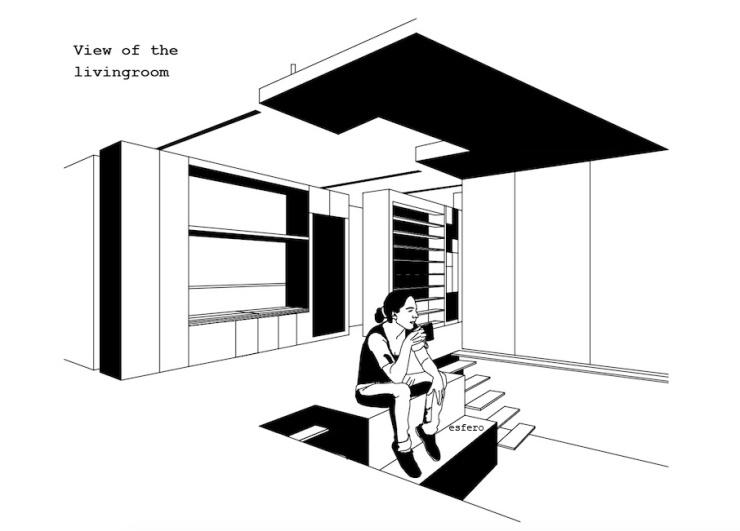 Techo subido vivienda flexible