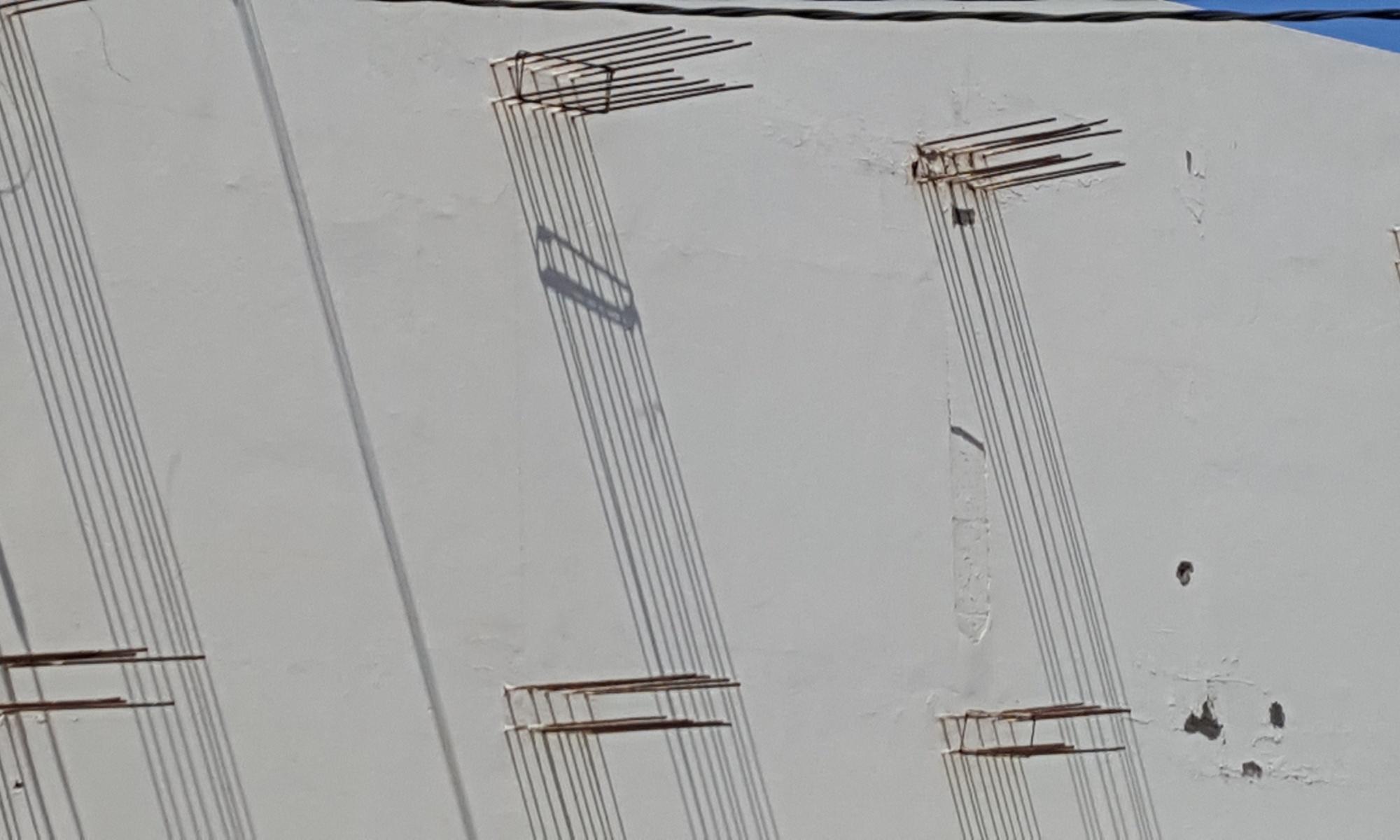 Barras de acero y sombra