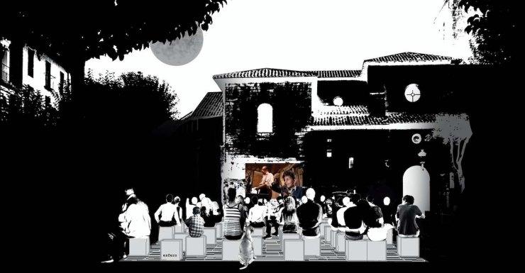 Cine de Verano con los asientos deabatidos